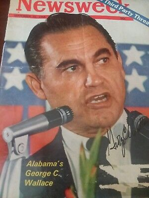 george wallace signed magazine cover