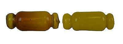 """5""""L Yellow Small Japanese Glass Float ONE PIECE Nautical Fishing Buoy Oval"""