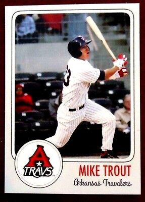 Mike Trout Minor League Rookie Card Arkansas Travelers
