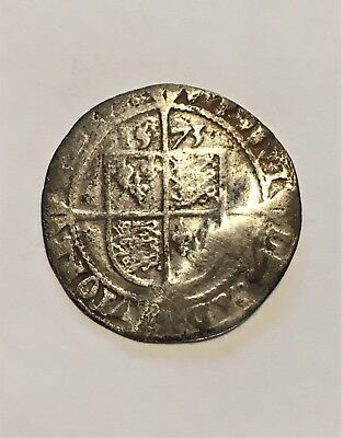 Elizabeth I Silver Six Pence dated 1573
