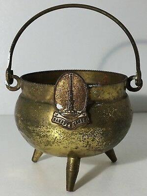 Vintage Tourist Souvenir  Banbury Cross Pot Brass Cauldron