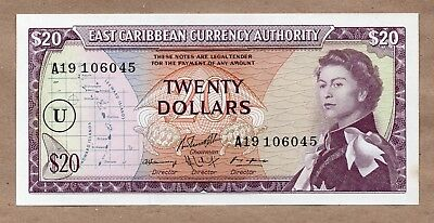 EAST CARIBBEAN STATES - 20 DOLLARS - ANGUILLA - ND1965 - P15n - UNCIRCULATED