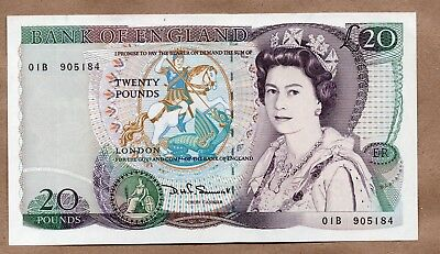 GREAT BRITAIN - 20 POUNDS - ND1970 - 91 - P380d - AU/UNCIRCULATED