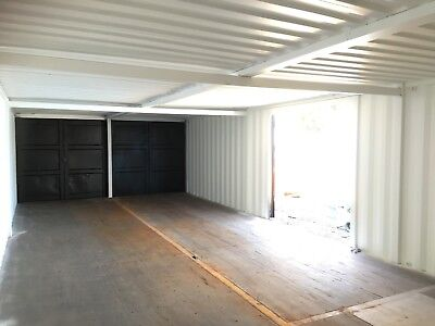 40x16 Container Workshop/ Storage Room With Optional Anti Vandal Windows.