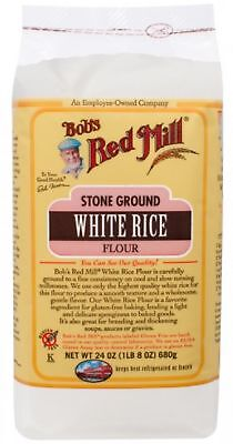 Bob's Red Mill Gluten Free White Rice Flour 24 oz (Pack of 4)