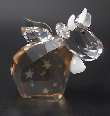 Swarovski Crystal ANGEL MO COW WITH WINGS AND STARS LOVELOTS FIGURINE 2012