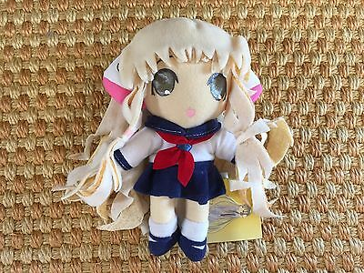 """NWT Chii in Sailor Uniform UFO Catcher 7.5"""" Plush Toy Chobits CLAMP"""