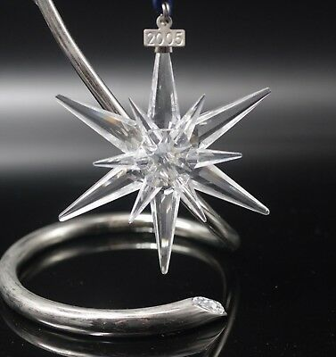 Swarovski Crystal 2005 Annual Star Snowflake Christmas Ornament Mint