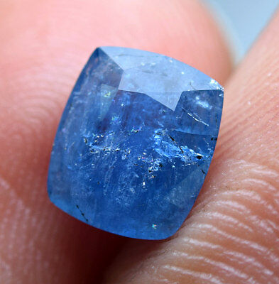 1.20 CT Extremely Rare Fluorescent Top Blue Color Afghanite Cut Gemstone@AFG
