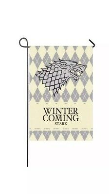 Game Of Thrones Flag Stark Family Winter Is Coming 12 X 18 In Printed On Both Si