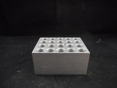 THERMOLYNE Metal Reaction Block for 13mm Tubes/Vials 46mm Depth 20 Position