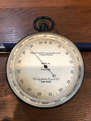 Excellent & Rare Antique Aneroid Barometer By Keuffel & Esser from 19th Century