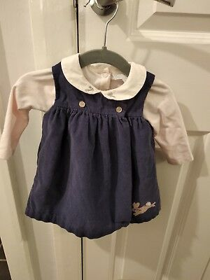 The little white company baby girl cord dress and vest 0-3 months