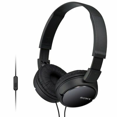 Sony MDR-ZX110AP Extra Bass Headphones with Mic for iPhone & Android (Black)