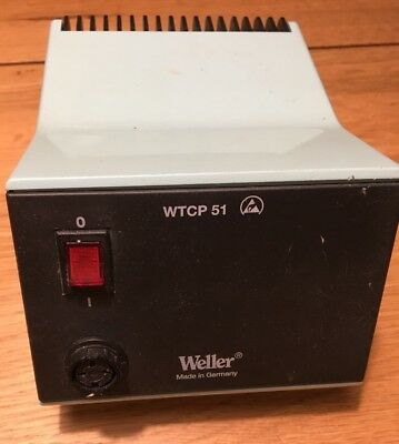weller WTCP 51 soldering iron base station