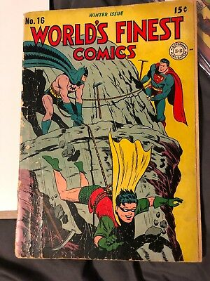 Old Vintage World's Finest Comics Winter Issue 16 No Reserve !