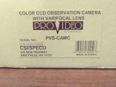 Speco Pro Video Pvs-Camc Color Ccd Camera Kit 3 - 8 Mm F 1.4 Lens New In Box