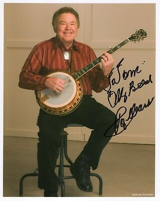 ROY CLARK hand signed 8x10 color photo       HEE HAW STAR WITH BANJO      TO TOM