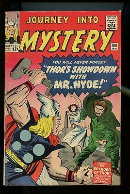 Journey Into Mystery #100 Very Good / Fine 5.0 Thor / Mr. Hyde 1964 Marvel