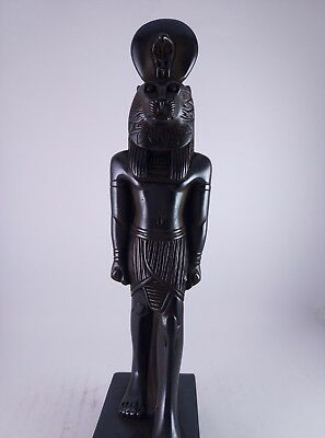 ANCIENT ANTIQUE EGYPTIAN STONE Statue of the Goddess Sakhmet 300-1500 Bc