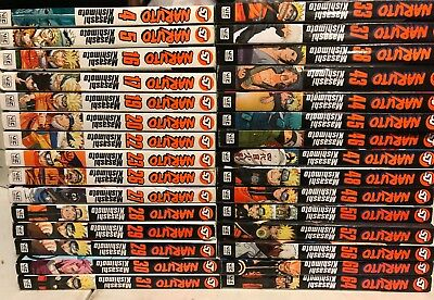 Huge Naruto Manga Lot - Volumes 30 Total