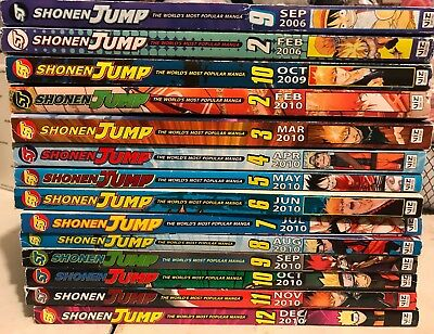 Shonen Jump Magazine Lot Of 14 2006 2009 2010