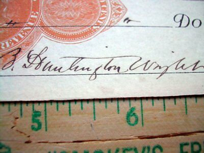 1877 check Rome NY, tax stamp clear signatures