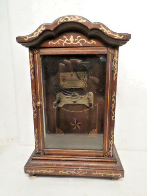Beautifully Designed Antique 1885 German Mantle Clock Case With Mounting Bracket