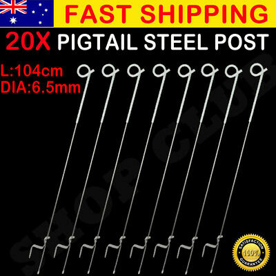20 Pcs Tread In Insulated Steel Pigtail Posts Trip Graze Pig Tail Post Au