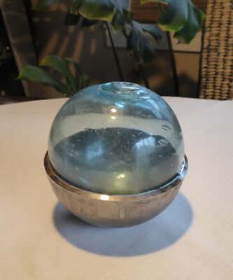 """Japanese Glass Fishing Float with Iron Mold, 5.88"""" Diameter"""