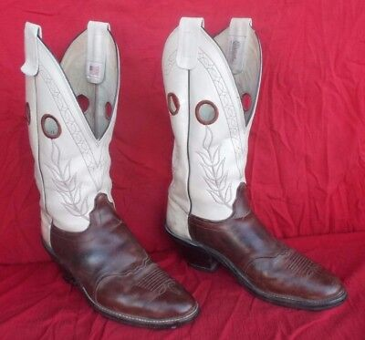 Fancy High Quality Olathe Leather Cowboy Bull Rider Style Work Boots Size 13D-NR