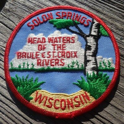 """Solon Springs Wisconsin WI Brule & St. Croix Rivers Birch Tree Travel 4"""" Patch"""