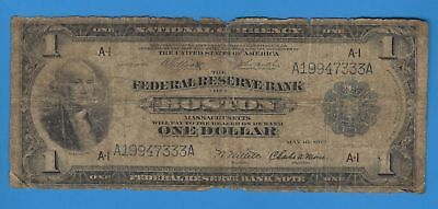 1918 Large Size Federal Reserve FRBN Boston $1 One Dollar Note FR# 708