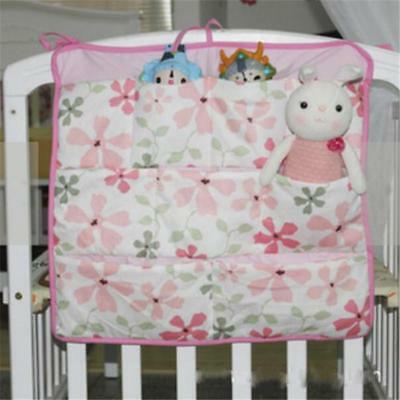 Baby Cot Bed Crib Nursery Hanging Storage Organizer Bag for Toy Diaper Clothe 6L