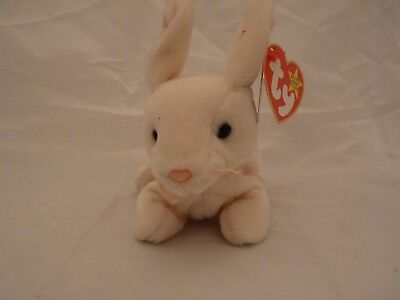 1998 Ty Original Beanie Babies NIBBLER The Beige Bunny w/Tags (7 inch)