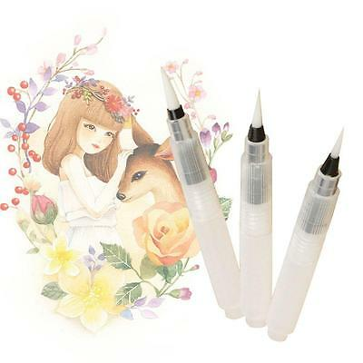 3pcs Pilot Ink Pen for Water Brush Watercolor Calligraphy Painting Tool Set ふ