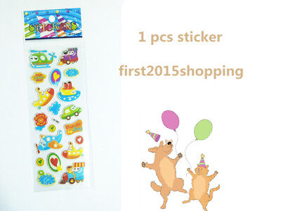 Stickers Airplane Craft 1pc Puffy Kid Scrapbooking Party Stickers Toys Gift 2018