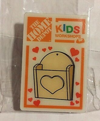 New The Home Depot Kids Workshop Heart Basket / Mail Holder Pin Collectible Rare