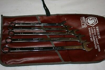 Matco Tools 5-Piece Extra Long 12-Point Sae Combination Wrench Set Usa