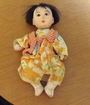 """Vintage 7"""" ASIAN COMPOSITION DOLL Chinese or Japanese"""