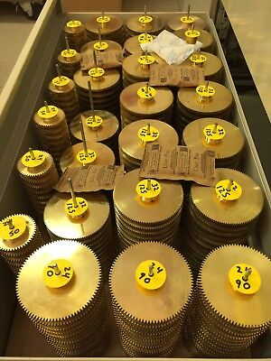 32 Pitch Solid Brass Spur Gears Diy Gears Boston Ma. Maker, Robot, Reducer Box !