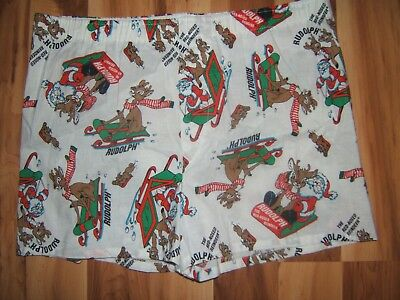 Vtg Men's Rudolph the Red Nosed Reindeer Boxers M/L