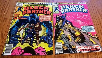 BLACK PANTHER #8 & #13 (LOT OF 2) KEY ISSUES JACK KIRBY-s/a ~ '18 HIT MOVIE