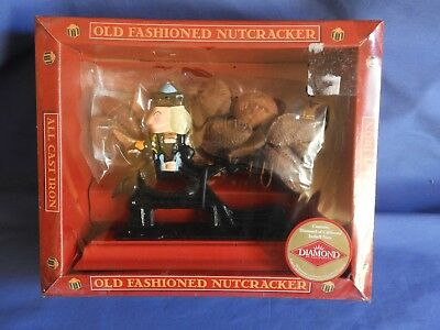 New * Old Fashioned Soldier Nutcracker * Cast Iron * Hand-Painted * Nib