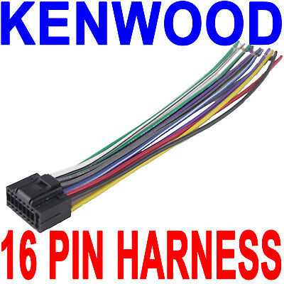 KENWOOD CAR STEREO Head Unit Replacement Wiring Harness Plug Indash on