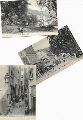 3 Antique Vintage RPPC Real Photo Postcards GRASSE, FRANCE, c1905 French Riviera