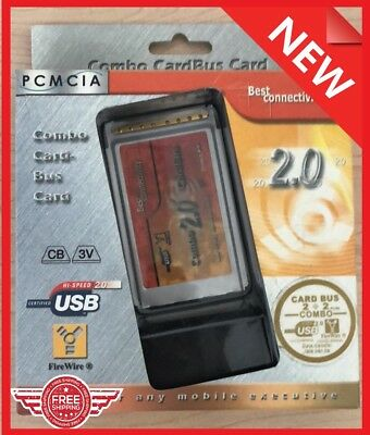 New PCMCIA to USB 2.0 CardBus 100 200 400 Mbps for IEEE 1394A 6 PIN 4PIN COMBO