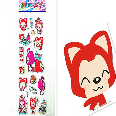 1PCS PVC Red Fox Stickers Kid Party Gift Toy Teacher Reward Gifts Handmade NEWLY