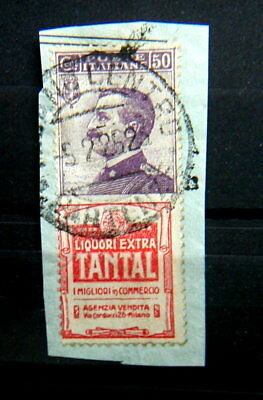 1925 Italy  rare used advertising stamp 50cts  TANTAL no reserve high value