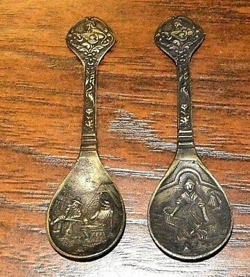 Vintage Pewter - Collectors Dutch Spoons Limited Edition 1981 Familie Overzee